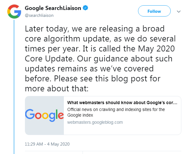 Google-Core-Algorithm-Update-2020